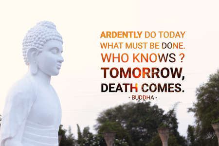 Ardently do today what must be done who knows tomorrow death comes - buddha Imagens