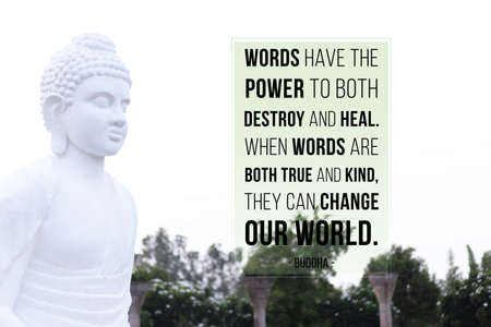 Words have the power to both destroy and heal. When words are both true and kind, they can change our world - buddha
