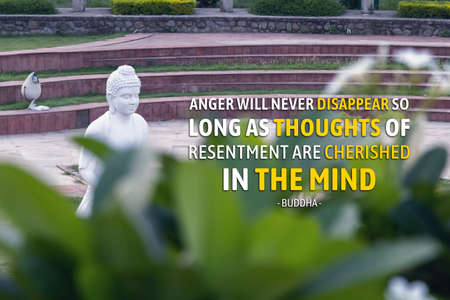 Anger will never disappear so long as thoughts of resentment are cherished in the mind - buddha