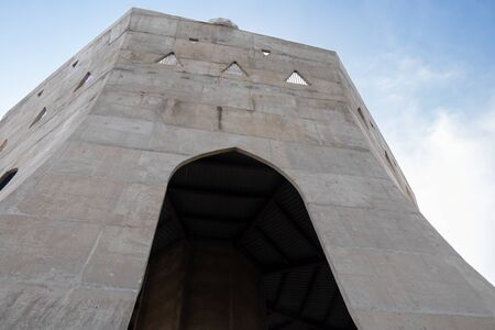 low angle shot of fateh burj against sky in the background. historical memorial concept