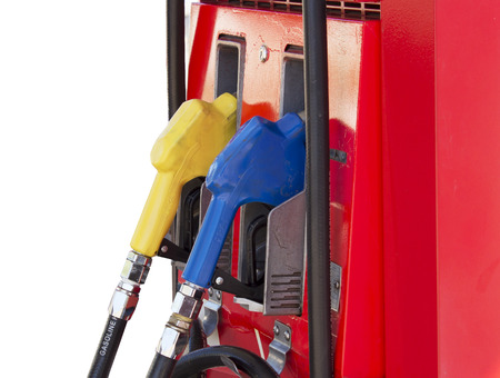 Fuel pump in the gas station on white background photo