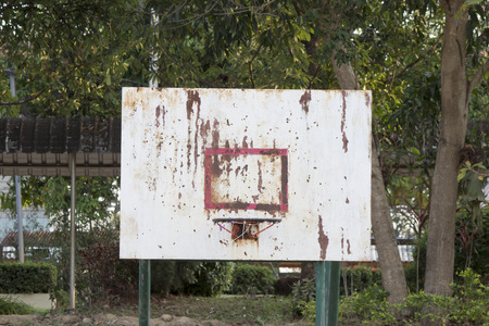 backboard: basketball iron board, backboard, dirty, grunge, old