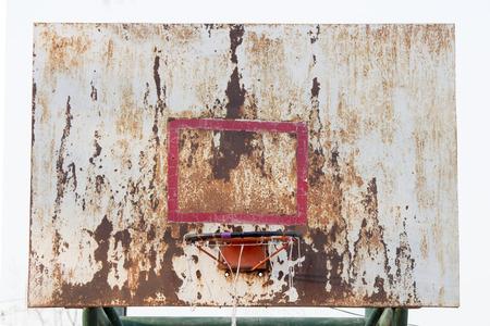 iron hoops: basketball iron board, backboard, dirty, grunge, old