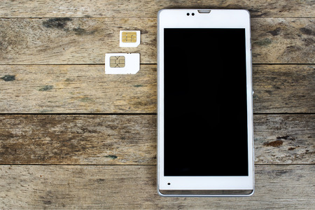 smart phone use with micro sim card or normal sim card, black screen photo