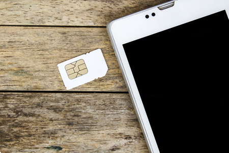 smart phone use with micro sim card, black screen Stock Photo - 39047565