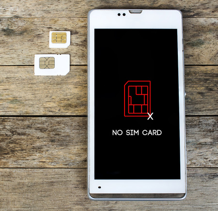 in insert: smartphone warning to insert SIM card, Message, icon