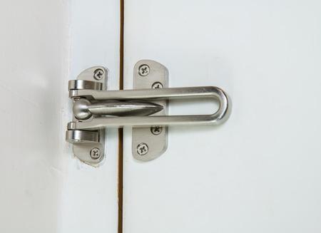 latch: Locking latch on Gate Stock Photo
