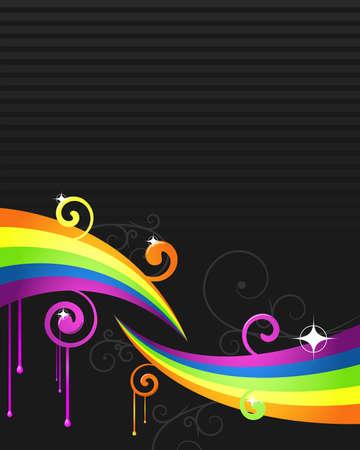 party rainbow flyer Stock Vector - 5053658