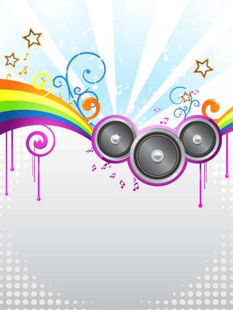 music disco flyer Illustration