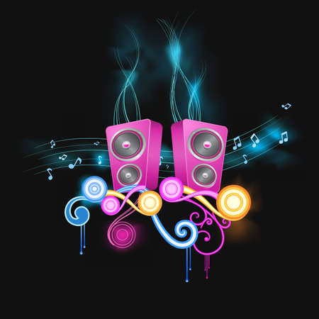 music abstraction decorated with smoke and design elements
