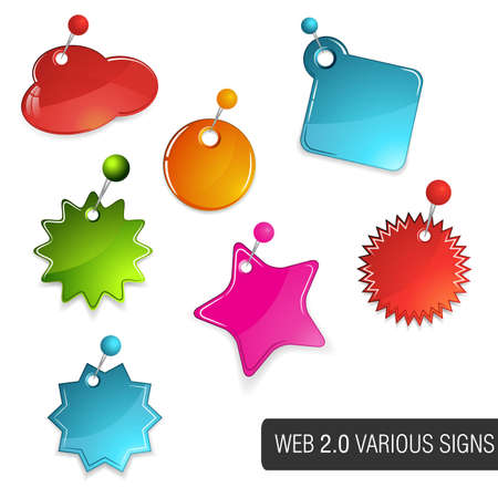 web 2.0 colourful tags