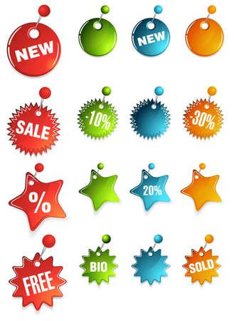 pinhead: web 2.0 tag set Illustration