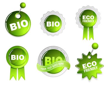 ecology bio set Illustration