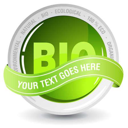 ecology bio badge Vector