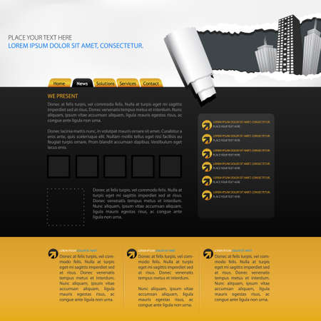 stylesheet: web design template