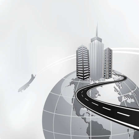 international business concept Illustration