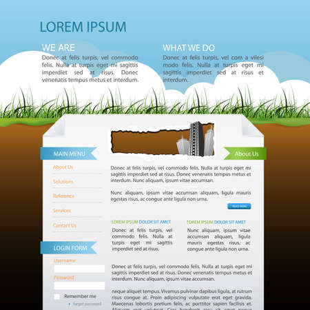 website window: web page design Illustration