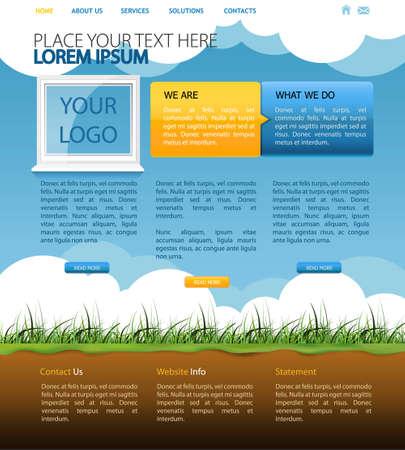 web page design Illustration