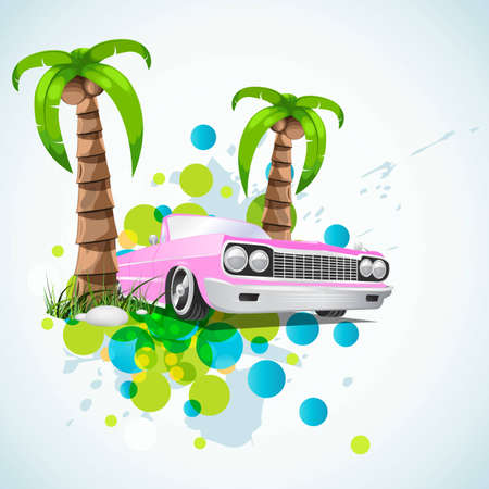 summer vacation stylish background Stock Vector - 6810596