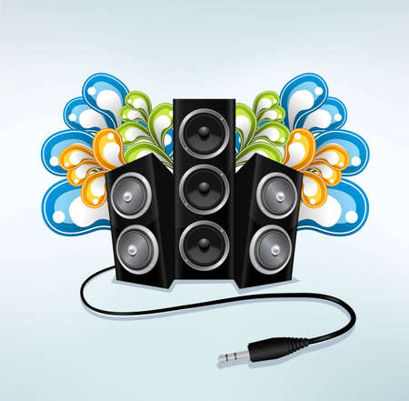 music speakers in party mode Vector