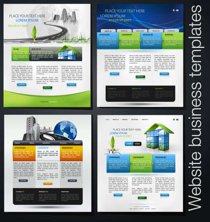 exclusive website business templates, first set Stock Vector - 7423788