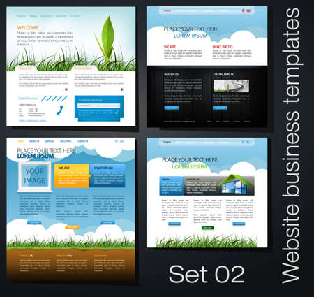 website business templates set 02 Vector