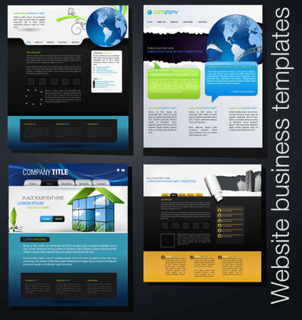 website business templates set 03 Vector
