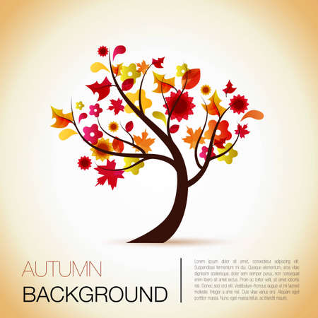 abstract  tree background for the season of autumn Illustration