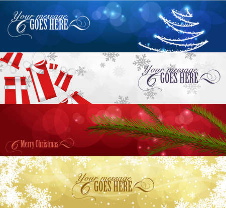 snowing: set of winter christmas banners vol. 01