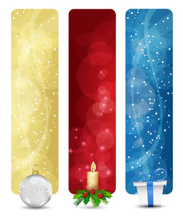set of winter christmas vertical banners vol. 01 Illustration