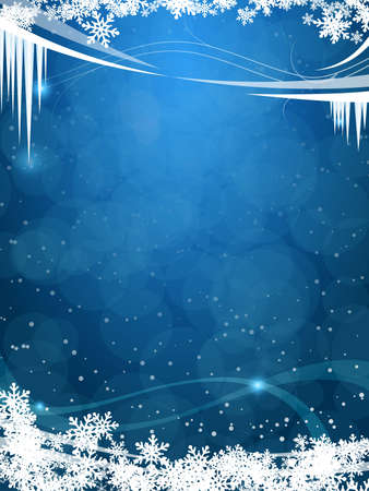 beautiful winter frosty background