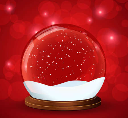 snow globe Stock Vector - 8127463