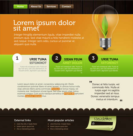 rich vector web page layout Vector