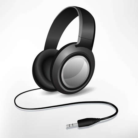 shined: headphones illustration isolated on white Illustration
