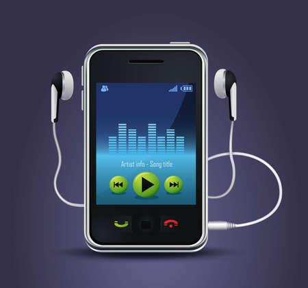 Reproductor de música de teléfono inteligente