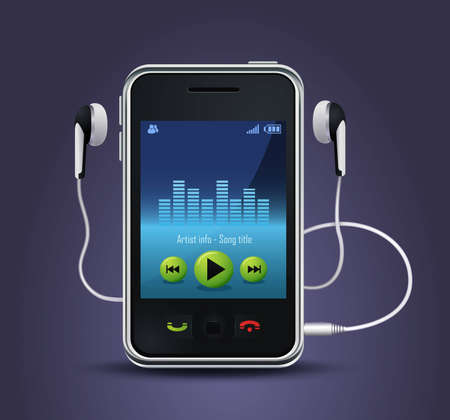 smart phone music player Illustration