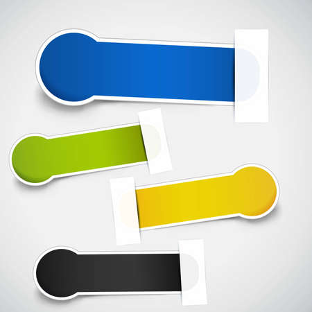 set of labels with copyspace