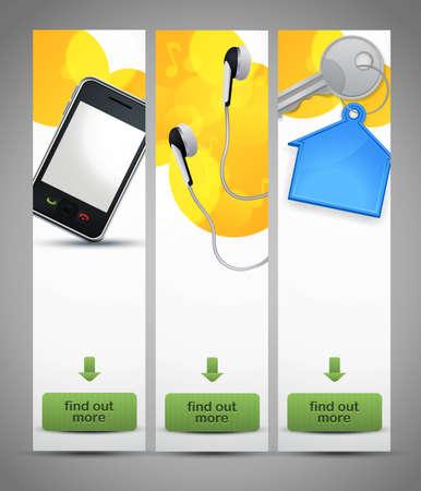 three vertical website banners Stock Vector - 10255640