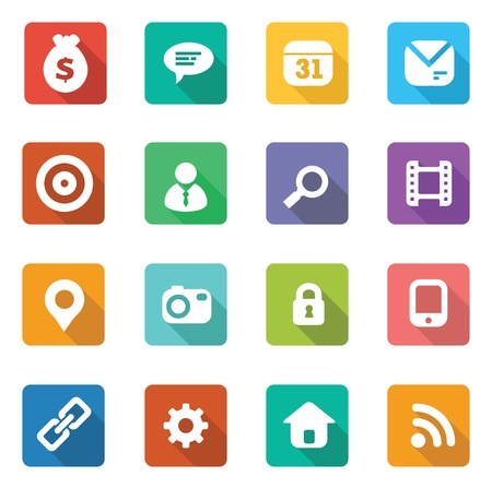 set of trendy flat icons Vector