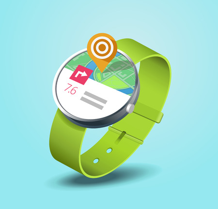 sports track: map application on smart watch wearable device