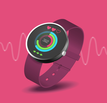 sports track: fitness application on smart watch wearable device