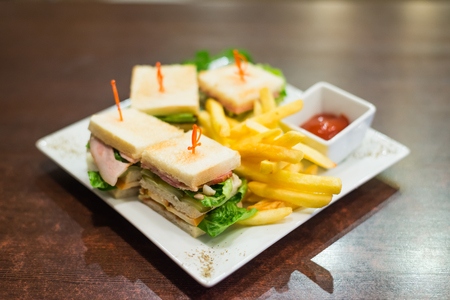 sandwiches on a white plate