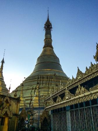 The old temple Religion Shwedagon pagoda in Myanmar