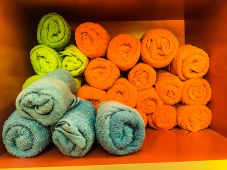 style: Colorful towels design spa and salon business