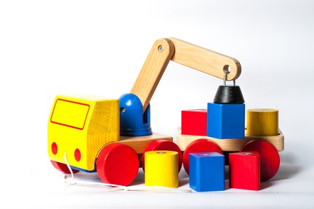 The wooden truck model toy for kid