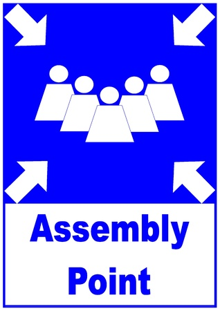 assembly point: Assembly Point Sign Stock Photo