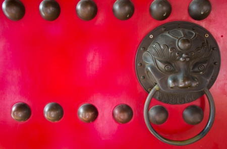 The closeup of Chinese style door handle  Stock Photo - 19337072