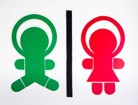 watercloset: The toddler toilet signage on white background