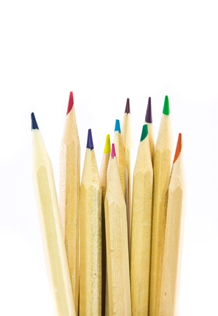 The color pencils isolated on white background Stock Photo - 20423578