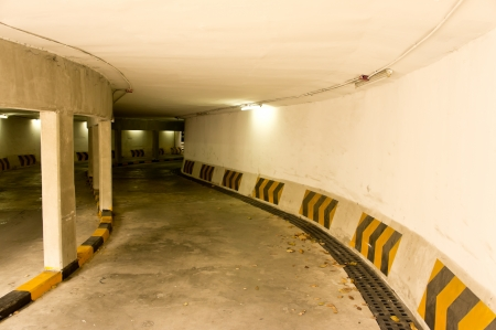 The entrance of an underground parking lot